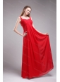 Red Straps Ruch Chiffon 2013 Long Dama Dress