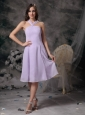 Short Lilac Empire V-neck Dama Dresses for Quinceanera 2013