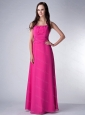 Square Hot Pink Floor-length Dama Dress On Sale