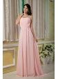 2013 Baby Pink Strapless Ruch Dama Dress For Quinceanera