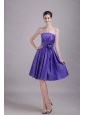 A-line / Princess Strapless Purple 2013 Dama Dress