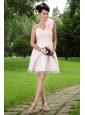Hand Made Flowers One Shoulder Mini-length Tulle Dama Dress
