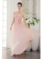 Light Pink 3D Flower Sweetheart Dama Dresses for Quinceanera