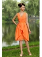 Ruch V-neck Empire Orange Dama Dresses for juniors