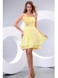 Empire One Shoulder Beading Chiffon Short Prom Dress Prom Dress