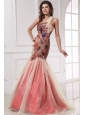 Mermaid One Shoulder Floor-length Prom Dress with Appliques