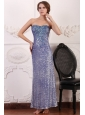 Lavender Column Ankle-length Sweetheart Prom Dress with Sequins