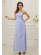 Strapless Empire Chiffon Ankle-length Prom Dress with Ruche