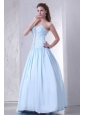 Sweetheart A-line Taffeta Beaded Decorate Prom Dress for 2014 Spring