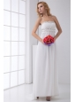 Pretty Empire Strapless Wedding Dress with Beading Ankle-length