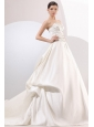 A-Line Sweetheart Taffeta Embroidery and Beading Wedding Dress