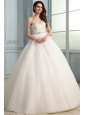 Ball Gown Sweetheart Wedding Dress with Appliques and Ruffles