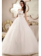 Beaded Decorate Sweetheart Ball Gown Wedding Dress with Sequin