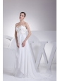 Empire Sweetheart Appliques Wedding Dress with Court Train