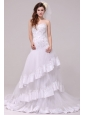 Fashionable A-line Sweetheart Appliques Decorate Wedding Dress
