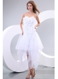 Cheap Sweetheart Asymmetrical Hand Made Flowers Wedding Dress