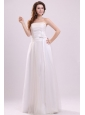 Strapless Empire Hand Made Flowers Floor-length Wedding Dress