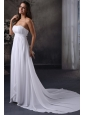 Elegant Empire Strapless Court Train Ruching Wedding Dress with Zipper Up