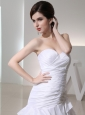 2014 Mermaid Sweetheart Taffeta Wedding Dress with  Ruching Ruffled Layers