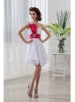 A-line One Shoulder Beading and Ruching Chiffon White Prom Dress