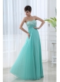 Apple Green Sweetheart Empire Pleats Floor-length Prom Dress