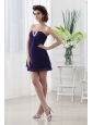 Empire Strapless Mini-length Sleeveless Beadings Chiffon Prom Dress
