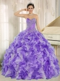 Beaded and Ruffles Custom Made For 2013 Purple Quinceanera Dresses