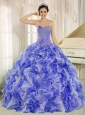 2013 Sweetheart Popular Quinceanera Dresses with Beading and Ruffles