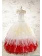 Unique Multi Color Sweetheart Ruffled Quinceanera Dresses wth Beading