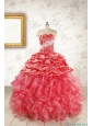 Luxurious Sweetheart Beading Quinceanera Dresses in Watermelon