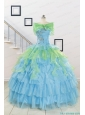 Wonderful Multi-color Strapless Beading Quinceanera Dress for 2015