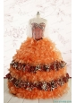 Beautiful Orange Quinceanera Dresses with Ruffles