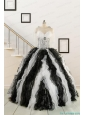 Discount Quinceanera Dress with Zebra and Ruffles