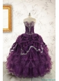 Pretty Purple Quinceanera Dresses with Appliques For 2015