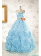 Unique Beading Aqua Blue Quinceanera Dresses for 2015