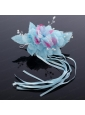 Fashionable Pearl White and Blue Fascinators Hair Combs