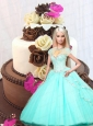 Aqua Blue Quinceanera Dress For Barbie Doll with Beading