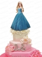 Blue Quinceanera Dress For Quinceanera Doll With Appliques