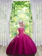 Fuchsia Quinceanera Dress For Quinceanera Doll With Ruffles And Hand Made Flowers
