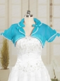 Baby Blue Wedding Party Organza Shawls with Beading