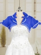 Beading Royal Blue Wedding Party Shawls for 2014
