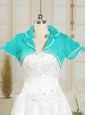 Organza Wedding Party Shawls in Aqua Blue