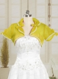 Yellow Cheap Wedding Party Shawls with Beading