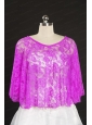 Lace Hot Pink Beading Hot Sale Wraps for 2014