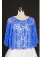 Royal Blue Lace Hot Sale 2014 Wraps with Beading