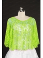 Spring Green Beading Lace Fall Wraps for 2014