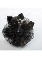Summer Black Tulle Fascinators with Pearl