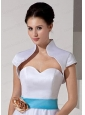 2014 Elegant Ivory Short Sleeves Jacket