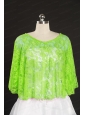 Elegant Spring Green Beading Lace Hot Sale Wraps for 2014