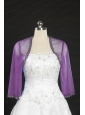 Fashionable Long Sleeves Lilac Wraps with Beading